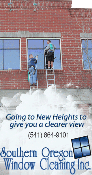 Southern Oregon Window Cleaning Goes to New Heights to Give you A Clearer View